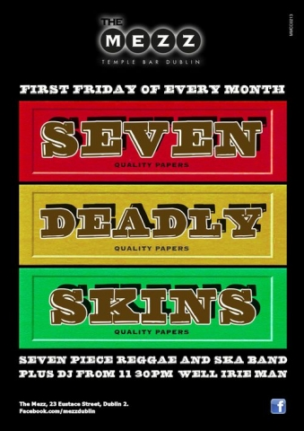 Poster for Seven Deadly Skins Band